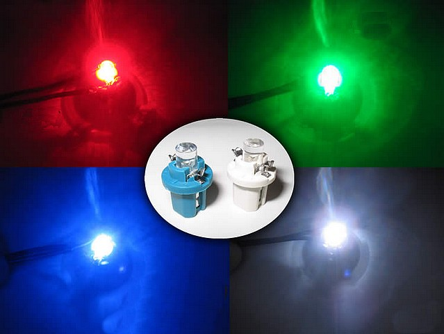 Led lamp r5 t5 in een houder 12v het eco auto auto for Kleur led lampen